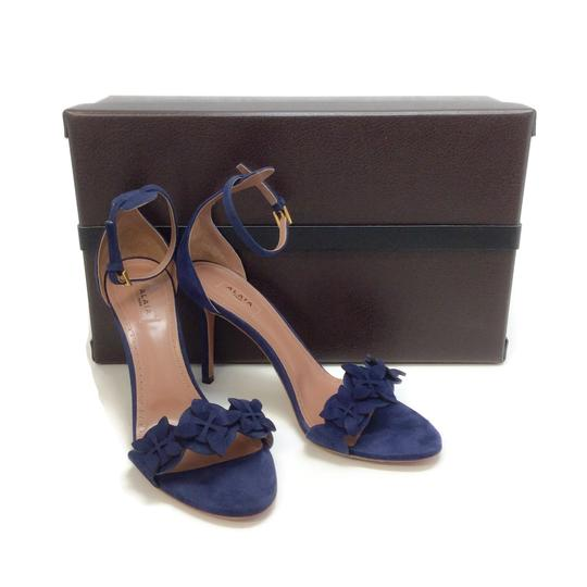 ALAA Blue Suede Sandals Image 8