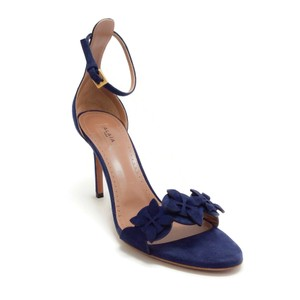 ALAÏA Blue Suede Sandals