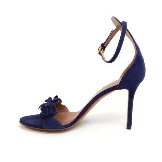 ALAA Blue Suede Sandals Image 2