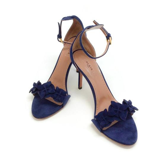 ALAA Blue Suede Sandals Image 5