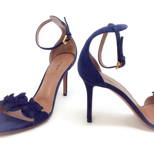 ALAA Blue Suede Sandals Image 6