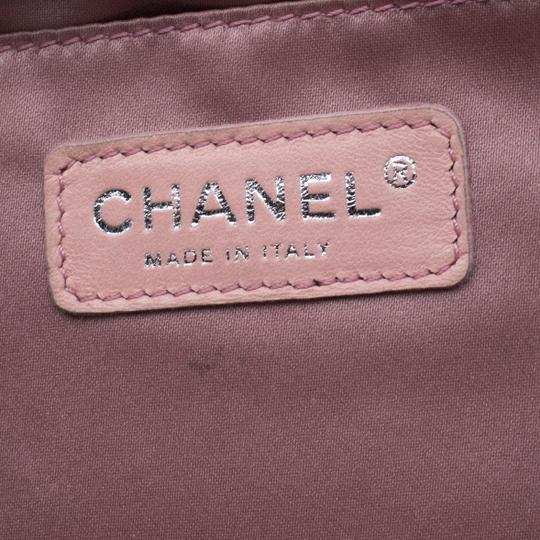 Chanel Leather Satin Logo Black Clutch Image 7