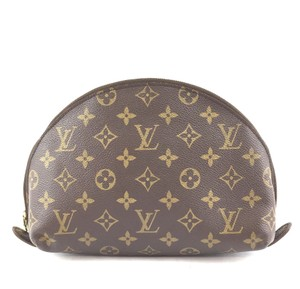 Louis Vuitton Pouch Cosmetic Monogram Pochette brown Clutch