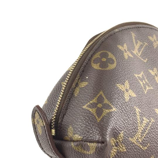 Louis Vuitton Pouch Cosmetic Monogram Pochette brown Clutch Image 8