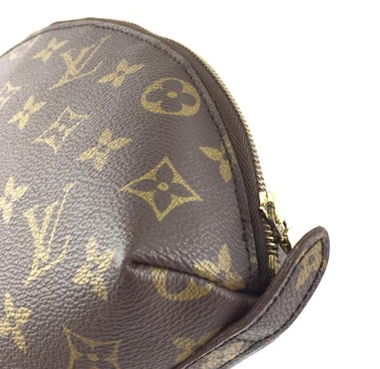 Louis Vuitton Pouch Cosmetic Monogram Pochette brown Clutch Image 9