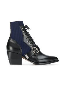 Chloé Chloelovers Sock/Booties Leather Black/blue Boots