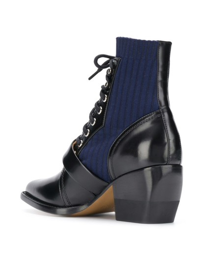Chloé Chloelovers Sock/Booties Leather Black/blue Boots Image 2