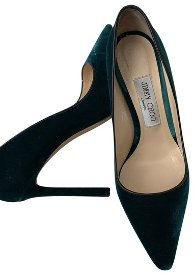 Preload https://img-static.tradesy.com/item/26241972/jimmy-choo-green-romy-100-vel-172-bottle-pumps-size-eu-37-approx-us-7-regular-m-b-0-1-540-540.jpg