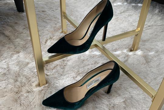 Jimmy Choo Green Pumps Image 11