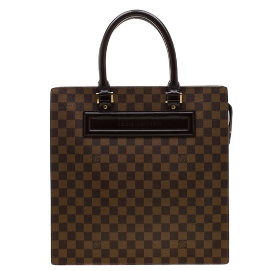 Louis Vuitton Canvas Signature Tote in Brown Image 1