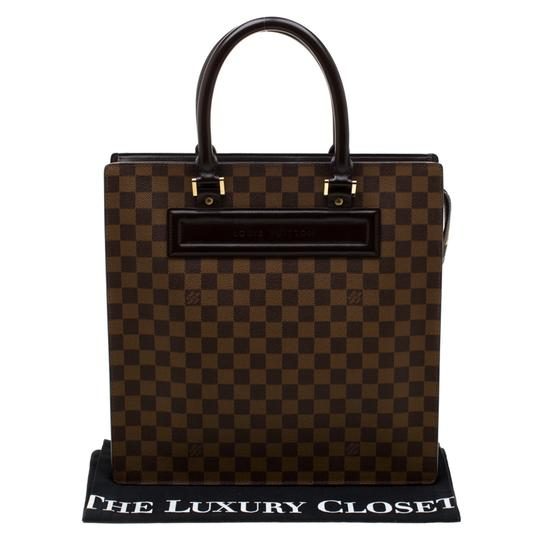 Louis Vuitton Canvas Signature Tote in Brown Image 10