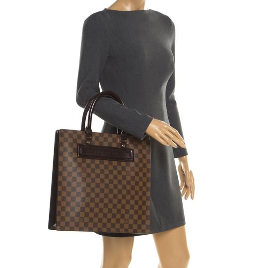 Louis Vuitton Canvas Signature Tote in Brown Image 2