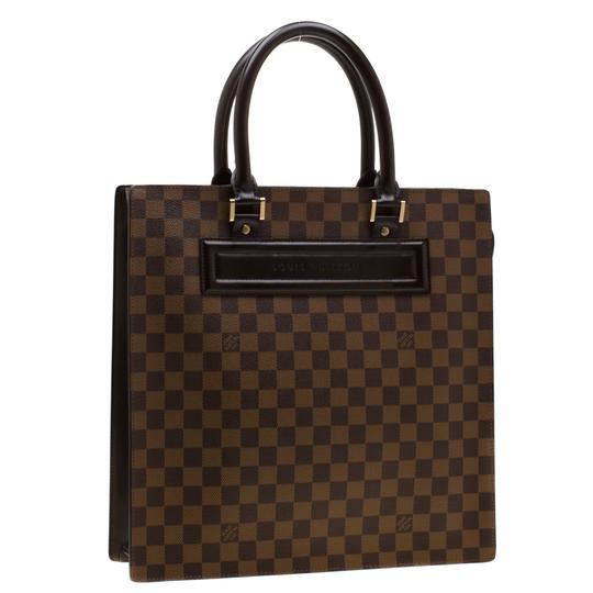 Louis Vuitton Canvas Signature Tote in Brown Image 3