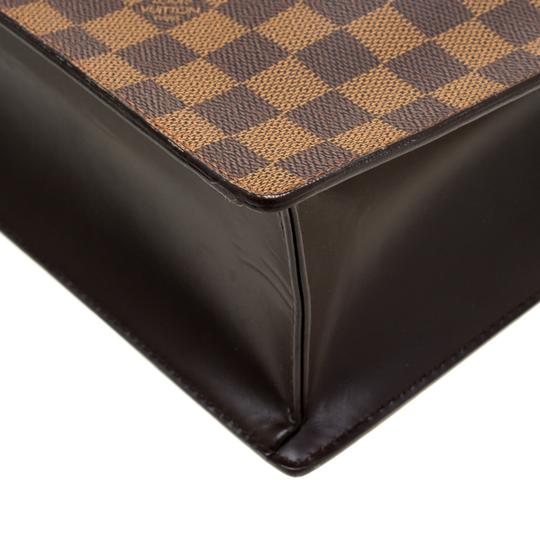 Louis Vuitton Canvas Signature Tote in Brown Image 8