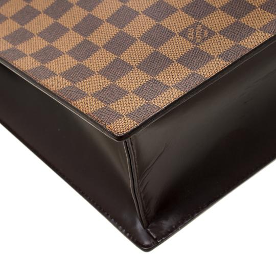 Louis Vuitton Canvas Signature Tote in Brown Image 9