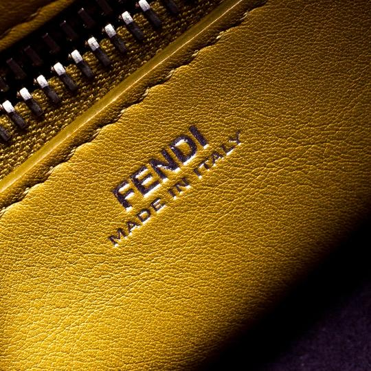 Fendi Leather Suede Quilted Purple Clutch Image 8