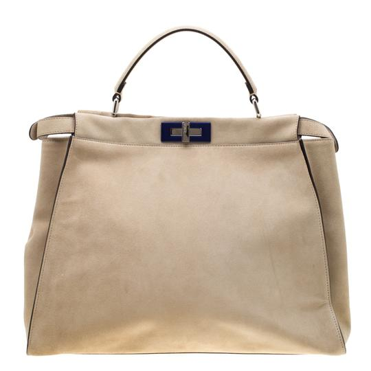 Fendi Suede Leather Tote in Yellow Image 1