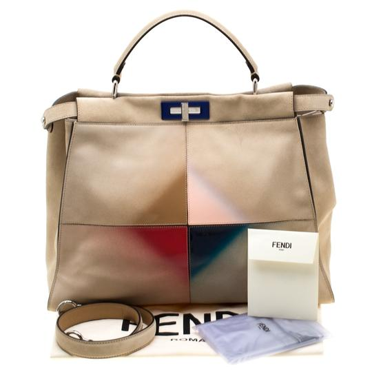 Fendi Suede Leather Tote in Yellow Image 11