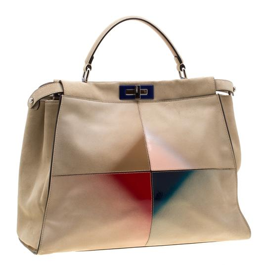 Fendi Suede Leather Tote in Yellow Image 3