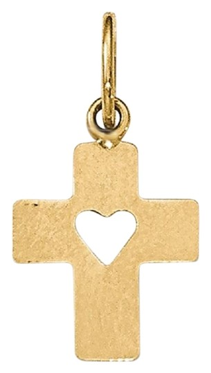 Preload https://img-static.tradesy.com/item/26242031/apples-of-gold-small-cross-pendant-with-cut-out-heart-in-14k-necklace-0-1-540-540.jpg