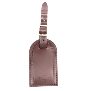 Louis Vuitton brown smooth calf Leather Luggage Tag keepall alma speedy