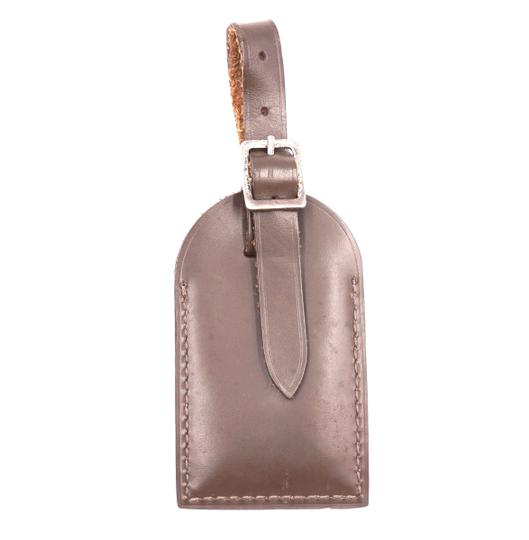 Louis Vuitton brown smooth calf Leather Luggage Tag keepall alma speedy Image 1
