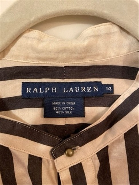 Ralph Lauren Blue Label Top Black and Cream Image 5