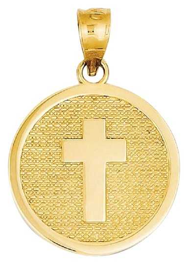 Preload https://img-static.tradesy.com/item/26242068/apples-of-gold-cross-disc-charm-pendant-with-god-bless-on-back-necklace-0-1-540-540.jpg