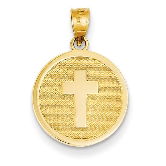 Apples of Gold CROSS DISC CHARM PENDANT WITH