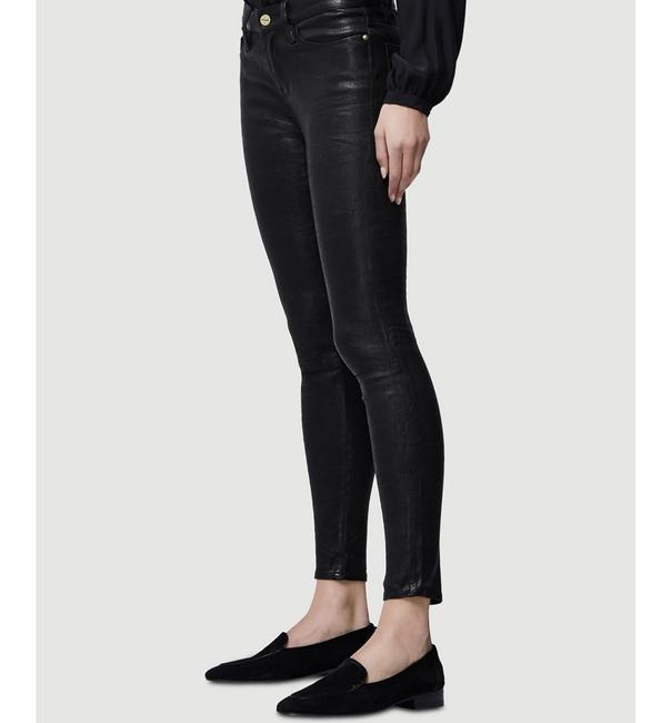 FRAME Leather Skinny Jeans-Coated Image 3
