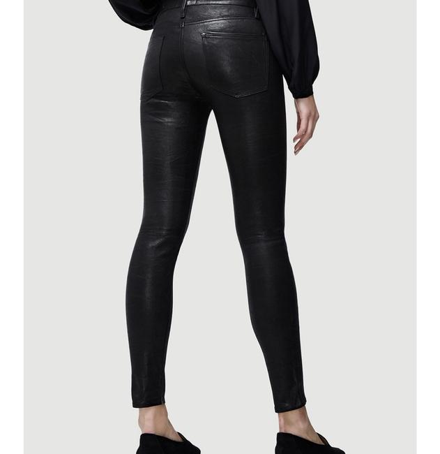 FRAME Leather Skinny Jeans-Coated Image 4