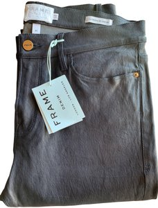 FRAME Leather Skinny Jeans-Coated