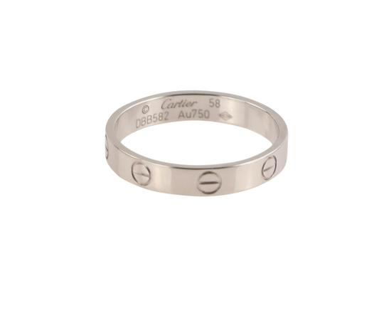 Cartier White Gold Love Wedding Band Image 3