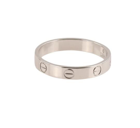 Cartier White Gold Love Wedding Band Image 4