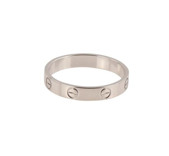 Cartier White Gold Love Wedding Band Image 8