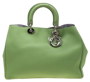 Dior Leather Tote in Green