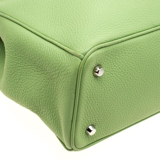 Dior Leather Tote in Green Image 10