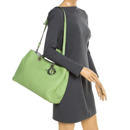 Dior Leather Tote in Green Image 2