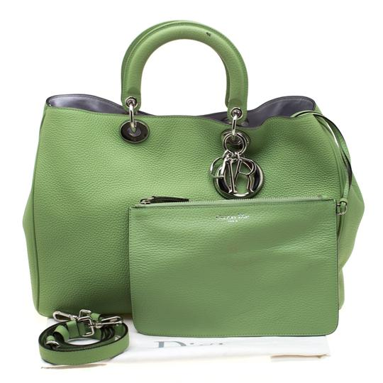 Dior Leather Tote in Green Image 3