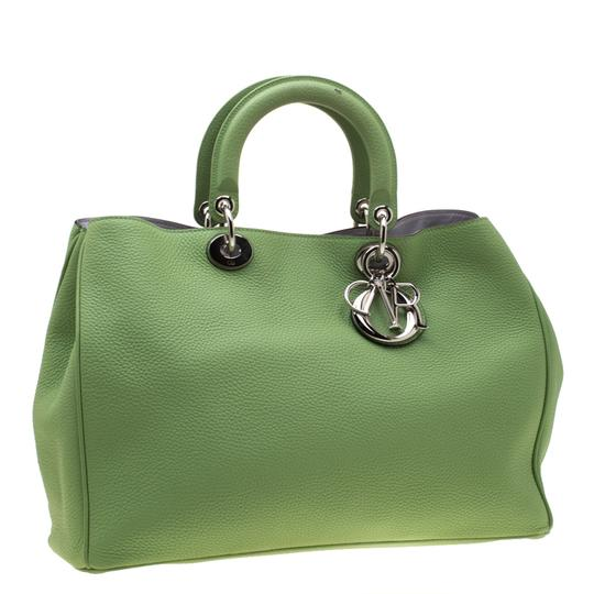 Dior Leather Tote in Green Image 4