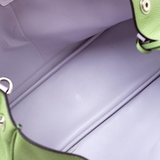Dior Leather Tote in Green Image 6