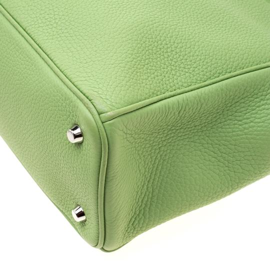 Dior Leather Tote in Green Image 9