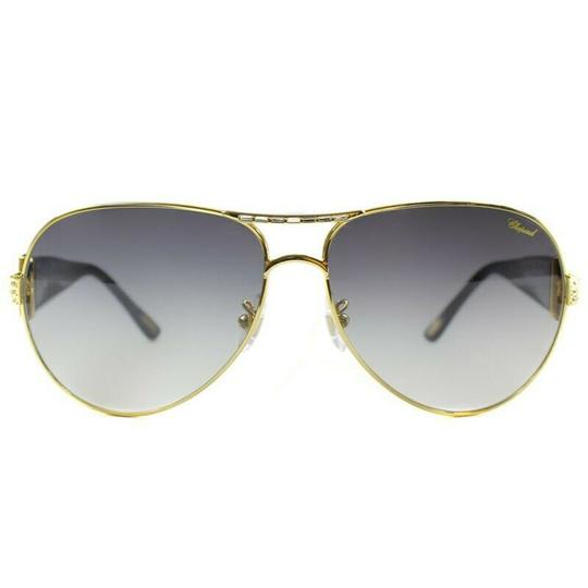 Chopard Green Gradient Lens SCH870S 300 Aviator Women's Sunglasses Image 1