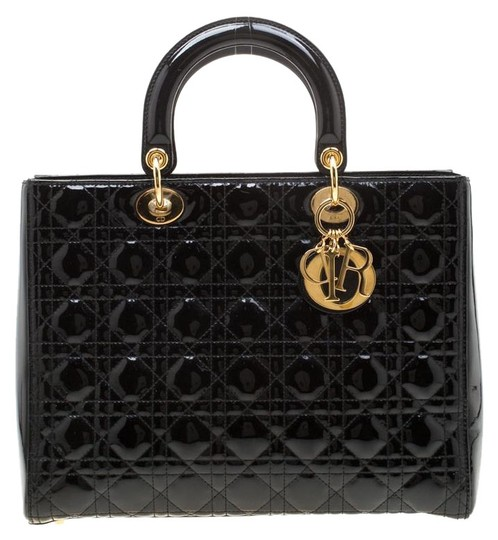 Preload https://img-static.tradesy.com/item/26242161/dior-lady-cannage-large-black-patent-leather-tote-0-1-540-540.jpg