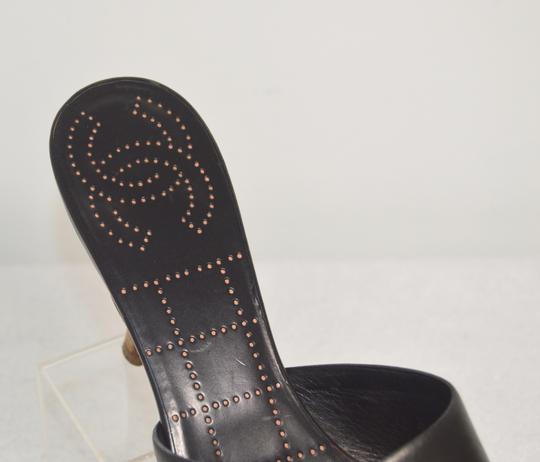 Chanel Classic Retro Chic Easy-to-wear Perforated Insole Made In Italy Logo Black Mules Image 6