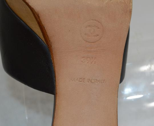 Chanel Classic Retro Chic Easy-to-wear Perforated Insole Made In Italy Logo Black Mules Image 9