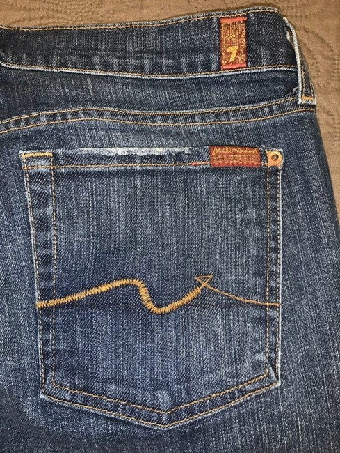 7 For All Mankind Skinny Jeans-Medium Wash Image 6