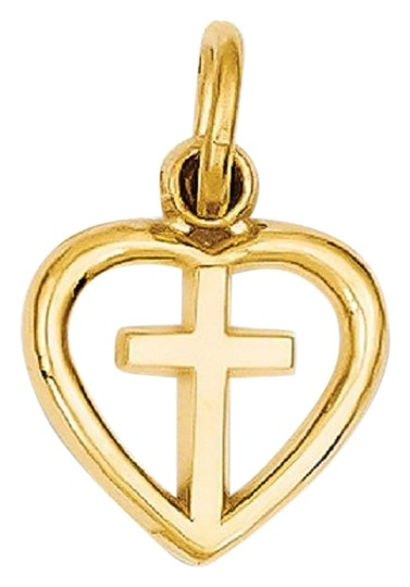 Preload https://img-static.tradesy.com/item/26242205/apples-of-gold-let-not-your-heart-be-trouble-cross-charm-pendant-14k-necklace-0-1-540-540.jpg