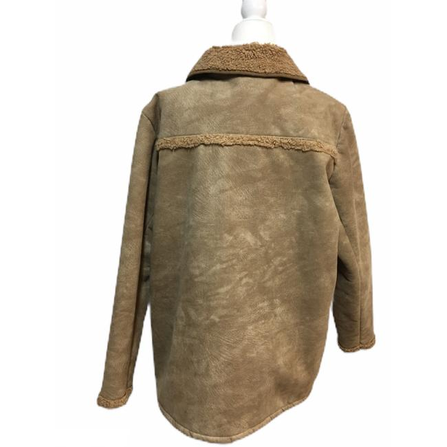 Barbour Tan Suede Touch Sherpa Shearling Jacket Image 1