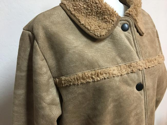 Barbour Tan Suede Touch Sherpa Shearling Jacket Image 2